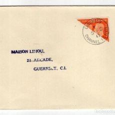 Sellos: GUERNSEY 1941,CARTA MANDADA A LA ISLA EL 5-2-1941,VER FOTOS DEL MATASELLOS.UNICO EN LA RED!!LEED!!!. Lote 93112330