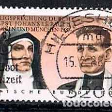 Sellos: ALEMANIA IVERT Nº 1184, BEATIFICACIÓN DE EDITH STEIN Y RUPERT MAYER POR JUAN PABLO II, USADO. Lote 93784360