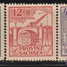 Sellos: SAXE. ALEMANIA ORIENTAL . 1946. SERIE: RECONSTRUCCION. **.MNH(17-726). Lote 94549595