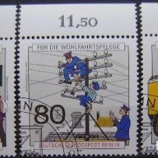 Sellos: BERLIN - YVERT Nº 837/39 USADOS - HISTORIA POSTAL Y DE TELECOMUNICACIONES. Lote 94557971