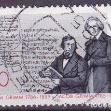 Sellos: ALEMANIA FEDERAL,1985,BRÜDER GRIMM,MICHEL 1236,USADO. Lote 121723754