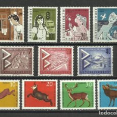 Sellos: BERLIN, 1957, 1960, 1966, 3 SERIES COMPLETAS NUEVAS MNH**. Lote 94840123