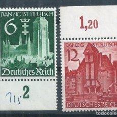 Sellos: R14/ ALEMANIA IMPERIO, MICHEL 714/15 ** MNH, 1939. Lote 95082419