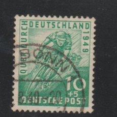 Sellos: ALEMANIA FEDERAL 1949 TOUR DE ALEMANIA - CICLISMO YVERT 74 USADO ESCASO . Lote 95715695