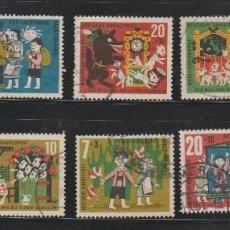 Sellos: ALEMANIA FEDERAL LOTE DE SELLOS USADOS DE CUENTOS FAMOSOS 1957-1962 . Lote 95715791