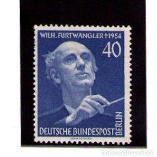 Sellos: BERLIN 1955 IVERT 113 *** FESTIVAL DE MÚSICA Y ANIVERSARIO DE LA MUERTE DE WILHELM FURTWANGLER. Lote 96021675