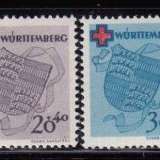 Sellos: WURTEMBERG 1949 YVERT Nº 38 / 41 , MICHEL Nº 40 / 43 MHN. Lote 96803547