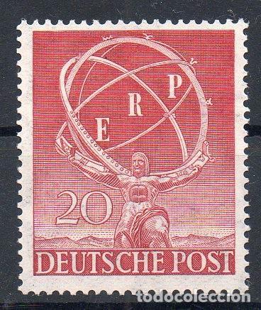 ALEMANIA BERLÍN AÑO 1950 YV 57*** RECONSTRUCCIÓN DE EUROPA - ESCULTURA - ARTE (Sellos - Extranjero - Europa - Alemania)