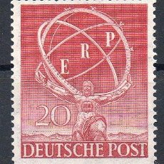 Sellos: ALEMANIA BERLÍN AÑO 1950 YV 57*** RECONSTRUCCIÓN DE EUROPA - ESCULTURA - ARTE. Lote 96997275