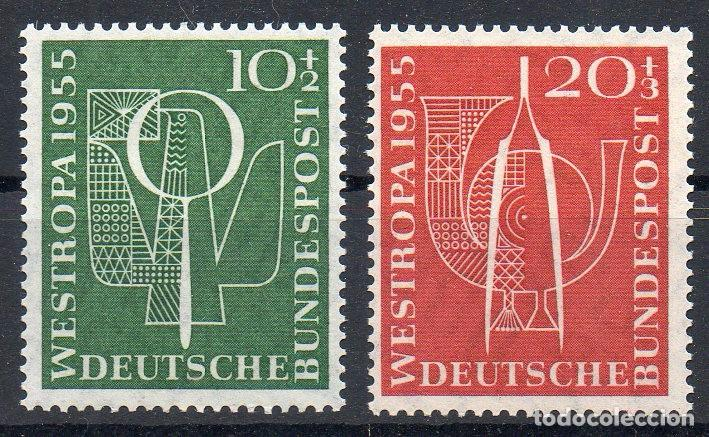 ALEMANIA FEDERAL AÑO 1955 YV 93/94 EXPOSICIÓN FILATELICA WESTROPA (Sellos - Extranjero - Europa - Alemania)
