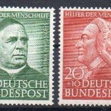 Briefmarken - ALEMANIA FEDERAL AÑO 1953 YV 59/62*** BENEFACTORES DE LA HUMANIDAD - PERSONAJES - RELIGIÓN - 97001027
