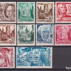 Sellos: WÜRTTEMBERG 1948 YVERT Nº 14 / 21 , 22 / 27 , MICHEL Nº 14 / 27 , MHN. Lote 99898583