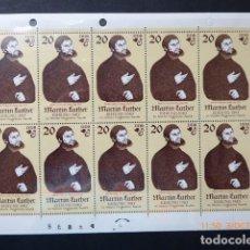 Francobolli: ALEMANIA DDR, HOJITA 1983, MARTIN LUTHER, S/CH.. Lote 100739635