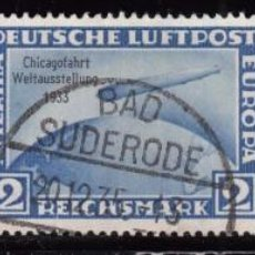 Sellos: ALEMANIA IMPERIO , 1933 YVERT Nº 42 A , 42 C MICHEL Nº 496 / 498 , - GRAF ZEPPELIN CHICAGO -. Lote 101019459