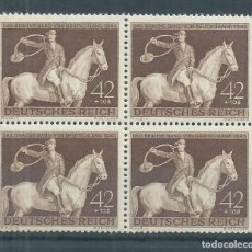 Sellos: R14/ ALEMANIA IMPERIO, MICHEL 854, MNH **, 1943, EN BLOQUE DE 4. Lote 101231395