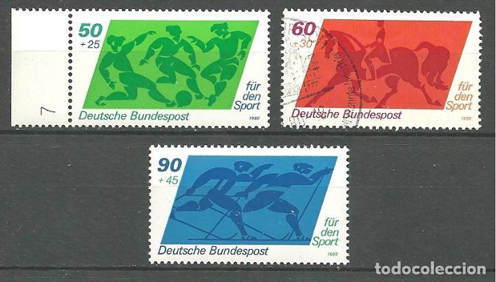 YT 896-98 ALEMANIA 1980 (Briefmarken - Internationale - Europa - Deutschland)