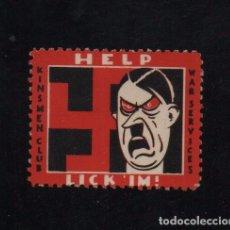 Sellos: VIÑETA, HELP LICK 'IM¡ MOTIVOS Y ALUCIONES ANTI-NAZISMO, VER FOTOS. Lote 101981055