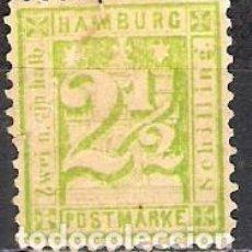 Sellos: ALEMANIA, HAMBURGO 1864 - NUEVO. Lote 102303163