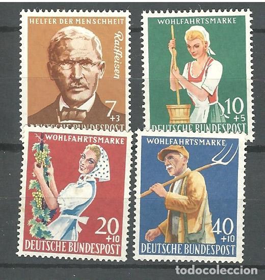 YT 168-71 ALEMANIA 1957 (Sellos - Extranjero - Europa - Alemania)