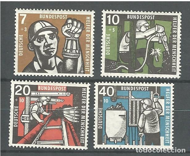 YT 142-45 ALEMANIA 1957 (Sellos - Extranjero - Europa - Alemania)