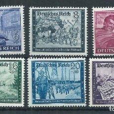Sellos: R14/ ALEMANIA IMPERIO, MICHEL 888/93, MNH **, 1944. Lote 102699383
