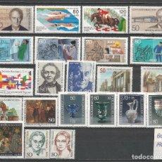 Sellos: SELLOS ALEMANIA-BERLÍN AÑO 1986 COMPLETO NUEVO. CATÁLOGO YVERT.. Lote 103637859