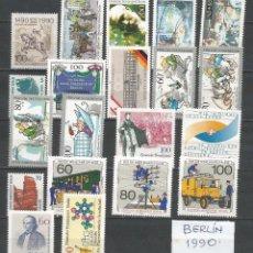 Sellos: SELLOS ALEMANIA-BERLÍN AÑO 1990 COMPLETO NUEVO. CATÁLOGO YVERT.. Lote 103638687