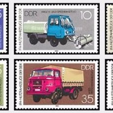 Sellos: [CF6272] DDR 1982, SERIE TRANSPORTES (MNH). Lote 221851062