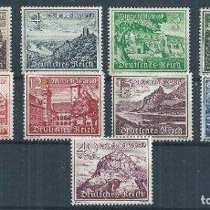 Sellos: R14.G12/ ALEMANIA IMPERIO, MICHEL 730/38, MH*, 1939, 9 DE NOVIEMBRE. Lote 104371079