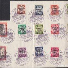 Briefmarken - ALEMANIA DANZIG 1939 YVERT Nº 258 / 271 , MATASELLOS ESPECIAL ADOLF HITLER , - 104432783