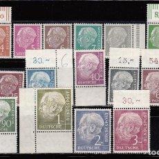 Sellos: ALEMANIA FEDERAL , 1953 - 1954 YVERT Nº 62 A / 72 B / ** / . Lote 106373671