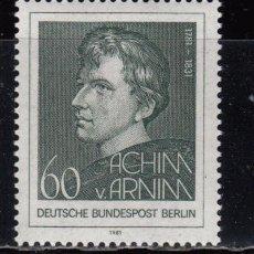Sellos: ALEMANIA BERLIN , 1981 YVERT Nº 598 / ** / , . Lote 107194391