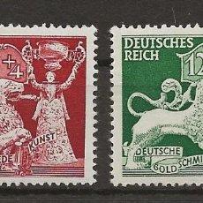 Sellos: R14/ ALEMANIA IMPERIO 1942, MICHEL 816/17, MNH ** MAGNIFICOS. Lote 107316575
