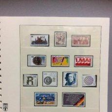 Sellos: ALEMANIA 1990 COMPLETO - SELLOS COMPLETAMENTE NUEVOS SIN CHARNELA EN HOJA LINDNER. Lote 109113307