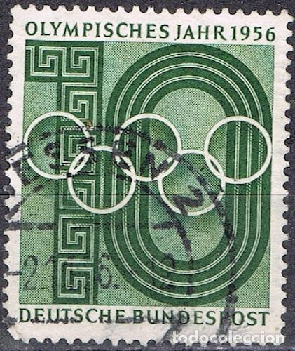 [CF7715] ALEMANIA 1956, JUEGOS OLÍMPICOS. MELBOURNE, AUSTRALIA (U) (Sellos - Extranjero - Europa - Alemania)