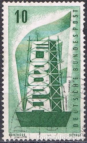 [CF7718] ALEMANIA 1956, EUROPA, 10 PF (U) (Sellos - Extranjero - Europa - Alemania)