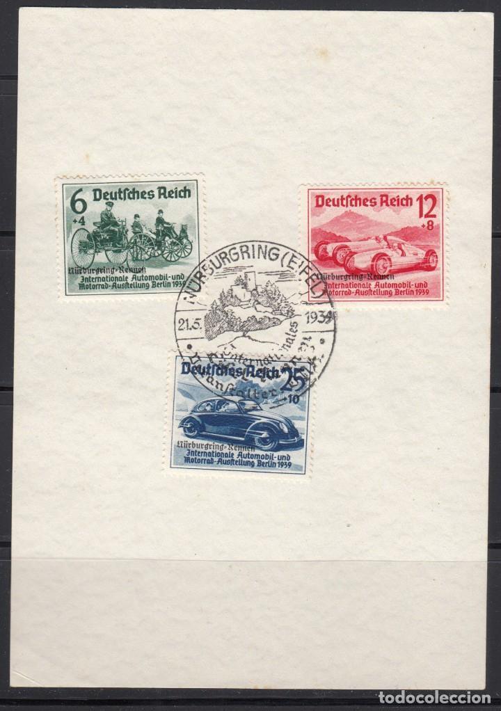 ALEMANIA IMPERIO, 1939 YVERT Nº 629 A / 629 C , CARRERAS NÜRBURGRING , TEMA AUTOMÓBILES (Sellos - Extranjero - Europa - Alemania)