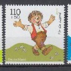 Sellos: ALEMANIA FEDERAL 1999 VERT Nº 1887/91 PARA LOS NIÑOS CATALOGO 14 €. Lote 110475811