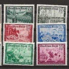 Sellos: R14/ ALEMANIA IMPERIO, 1939, MICHEL 702/13, MH*. Lote 135309405