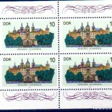 Sellos: DDR.- SELLOS DE 1986, EN BLOQUE DE 4, EN NUEVOS. Lote 112294455