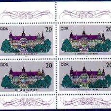 Sellos: DDR.- SELLOS DE 1986, EN BLOQUE DE 4, EN NUEVOS. Lote 112294583