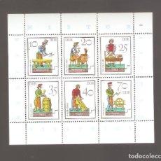 Sellos: SELLOS ALEMANIA DDR HOJAS EN NUEVO COMO FOTO LOTE 42. Lote 113089499