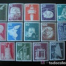 Sellos: BERLIN 1975-1976 IVERT 458/71 *** SERIE BÁSICA - INDUSTRIA Y TÉCNICA. Lote 113944939