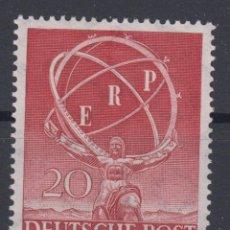 Sellos: BERLIN 1950 IVERT 57 *** RECONSTRUCCIÓN DE EUROPA - ARTE - ESCULTURA. Lote 115813647