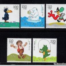 Sellos: ALEMANIA FEDERAL 1999 IVERT 1887/91 *** POR LA JUVENTUD - PERSONAJES DE DIBUJOS ANIMADOS. Lote 116111867