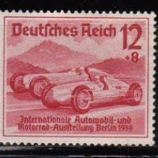 Sellos: ALEMANIA III REICH 1939 IVERT 627/29 * SALÓN INTERNACIONAL DEL AUTOMOVIL EN BERLIN - COCHES. Lote 116468215