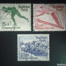 Sellos: ALEMANIA IMPERIO. YVERT 559/61. SERIE COMPLETA USADA. DEPORTES. OLIMPIADA DE INVIERNO 1936.. Lote 116481475