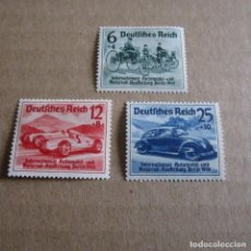 Sellos: ALEMANIA 1939 CARRERAS NÜRBURGRING YVERT Nº 627/29*.TEMATICA AUTOMOBILES.. Lote 116748767