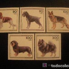 Sellos: ALEMANIA FEDERAL 1995 IVERT 1629/33 *** RAZAS CANINAS DE ORIGEN ALEMAN - FAUNA - PERROS. Lote 119027495