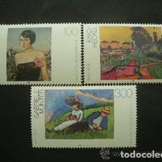 Sellos: ALEMANIA FEDERAL 1994 IVERT 1578/80 *** PINTURA ALEMANA DEL SIGLO XX. Lote 119689535